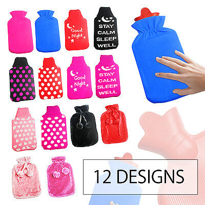 Hot Water Bottle Cover 2 Litre Thermal Warm Insulated Soft Cozy Snuggle Winter
