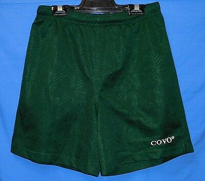 "Bottle Green Covo Soccer Football Shorts Sublimated  26"" Youth 14 A League"