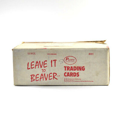 1983 Pacific Leave it to Beaver  Wax Box EMPTY Case #851 12/36 ct. 675