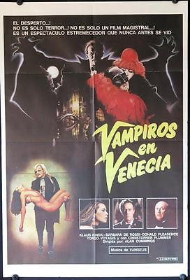 893 VAMPIRE IN VENICE Argentinean '89 Klaus Kinski in the title role, horror