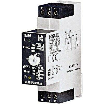 Hiquel TM16+ Time Delay Relay 1 Changeover 8 Time Functions