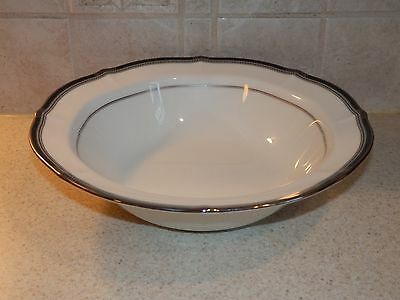 "Noritake China Gilded Platinum Pattern Round Vegetable Bowl 9 5/8"" Excellent!"