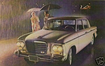 "Studebaker - ""LARK REGAL 4-DOOR SEDAN"" on a postcard"