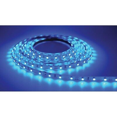 PowerPax UK 1MFL-300SMD-B 1m 12V LED Strip Blue 2.1mm Input Socket 60pcs 4.8W