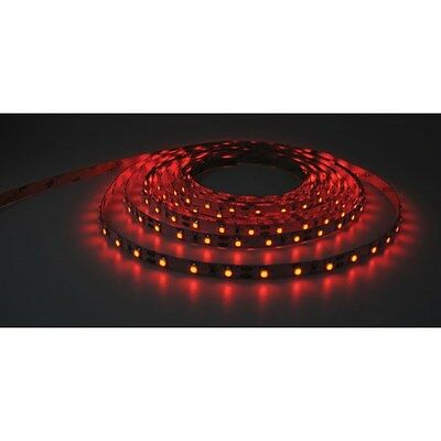 PowerPax UK 1MFL-300SMD-R 1m 12V LED Strip Red 2.1mm Input Socket 60pcs 4.8W