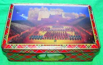 c1950 Edinburgh Tattoo McVittie Price Tartan Tartanware Lithographed Tin