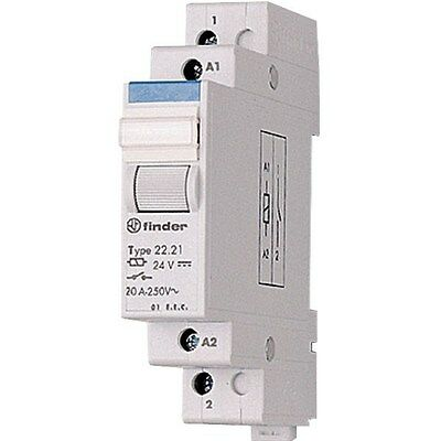 Finder 22.22.9.024.4000 Modular Relay DPST-NO 24VDC 20A