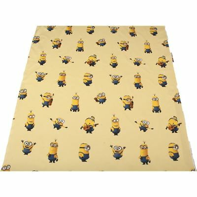 Yellow Minions 100% Cotton Light Childrens Craft Upholstery Fabric