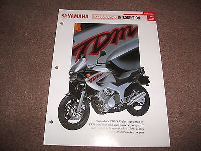 YAMAHA TDM850 the complete data/fact file from essential superbikes