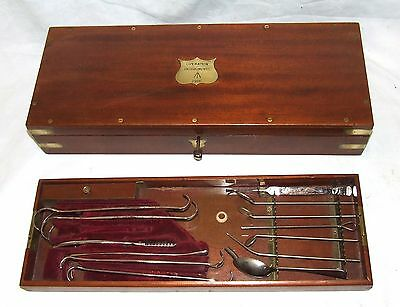 Antique Cased WWI Field Surgeons Kit : ARNOLD & SONS GILTSPUR ST. LONDON 1916