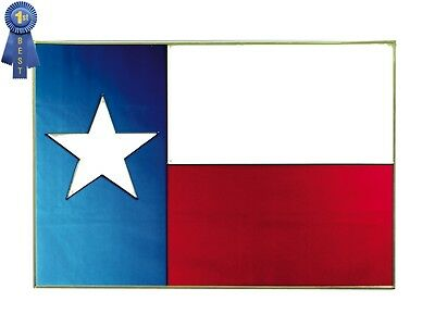 20x14 TEXAS FLAG Stained Art Glass Window Suncatcher