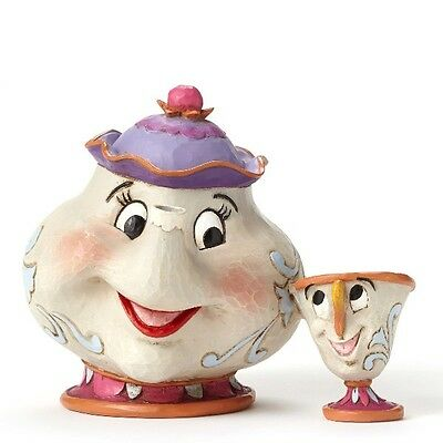 Disney Traditions Beauty and the Beast Mrs. Potts and Chip Statue New