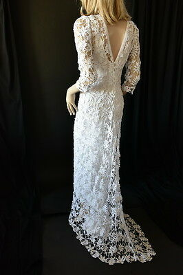 Lim's Brand New 100% Gorgeous All Hand Made Crochet Maxi Dress Dx White M (One S