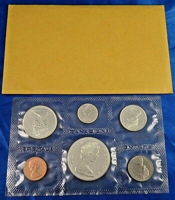 1965 Canada Silver Prooflike 6 Coin Set Canadian Royal Mint
