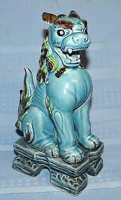 Chinese Hand Painted Dynasty Porcelain FOO DOG Figurine Statue Asian Art Lion