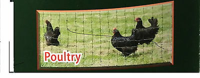 Electric Fence Netting for Chickens  164'/Roll - Green