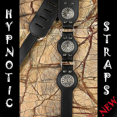Hypnotic Straps Black Magic Shield Studs Studed Guitar,bass Strap