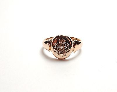 Antique 18 carat gold signet ring Birmingham 1913