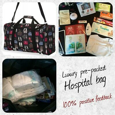 Luxury Pre-packed Hospital Bag For Mum And Baby /maternity/pregnancy