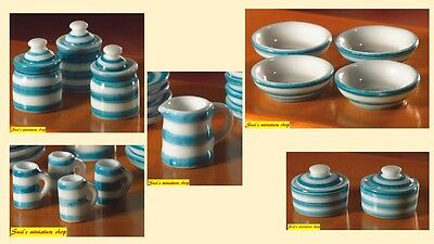 1:12 scale dolls house miniature 'cornish style' pottery 5 to choose from.