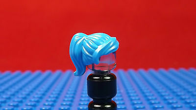 Lego-Minifigures Series X 1 Girls Hair Piece Blue With High Ponytail Parts
