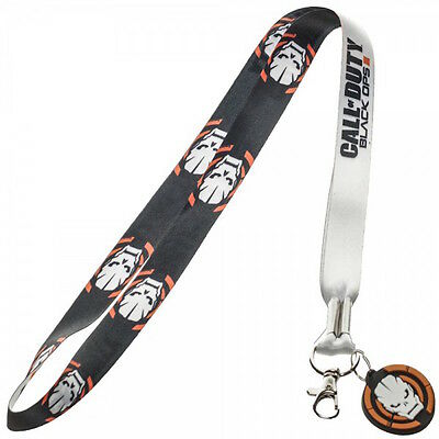 Call Of Duty Black Ops III Double Sided Lanyard Keychain ID Holder With Charm