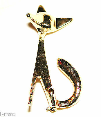 Vintage Art Modern Foxy Fox Pin Standing Proud Sphinx New O/s