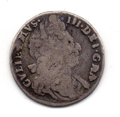 1696 Sixpence, William Iii Second Bust, Extremely  Rare