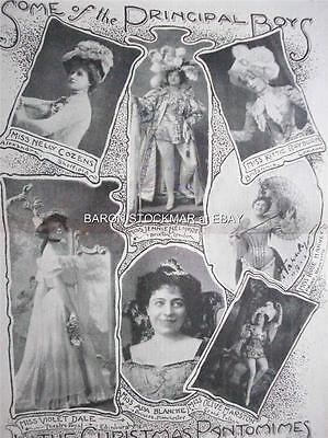 1901 PANTOMIME : photos Nelly Cozens  Belmore  Rayburn Blanche Marston Dale 12