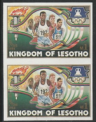Lesotho (1270) - 1984 OLYMPICS RUNNING IMPERF PAIR unmounted mint