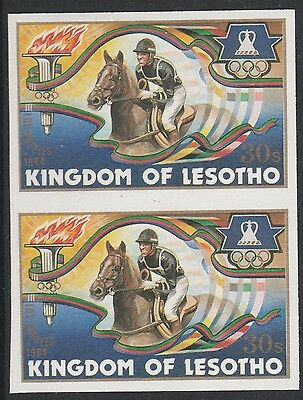 Lesotho (1273) - 1984 OLYMPICS HORSE RIDING IMPERF PAIR unmounted mint