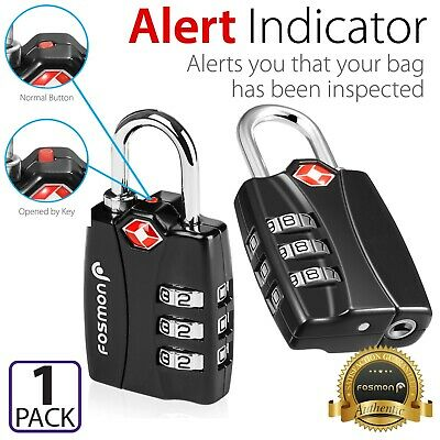[TSA Approve] 3 Digit Combination Travel Bag Suitcase Luggage Lock Padlock Reset