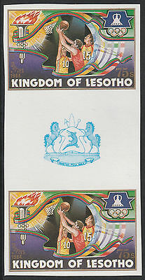 Lesotho (1276) - 1984 OLYMPICS BASKETBALL IMPERF GUTTER PAIR unmounted mint