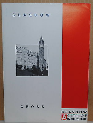 1990 Glasgow Scotland The Cross travel brochure and map