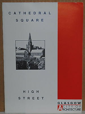 1990 Glasgow Scotland Cathedral Square High Street travel brochure and map