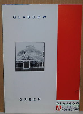 1990 Glasgow Scotland Around the Green travel brochure and map