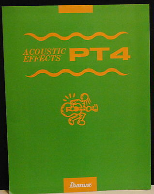1993 Ibanez PT4 Acoustic Guitar multi-effects brochure