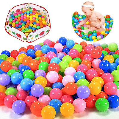 100pcs Colorful Swim Pit Toy Fun Ball Soft Plastic Ocean Ball Baby Kid Toy New