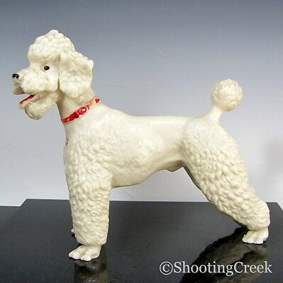 Vtg BREYER WHITE POODLE Dog Souvenir Manchester NH Glossy Early Figure Statue