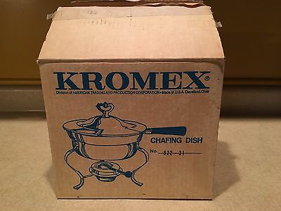 New In Box Vintage Kromex Chafing Dish No. 822-31 Cleveland Ohio