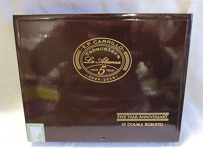 E. P. Carrillo Tabacalera La Alianxa Double Robusto Wood Cigar Box - Beautiful!