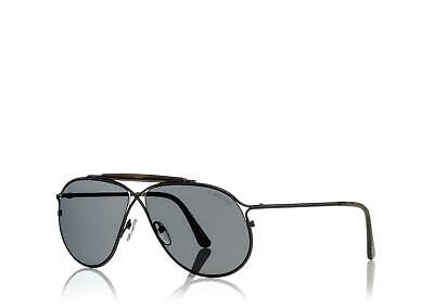 d90f563cd85ea Authentic Tom Ford Tom N.6 Private Collection Black Smoke Aviator Sunglasses
