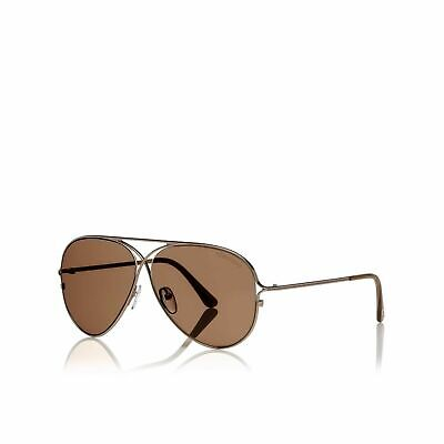 4b7a0edaf465c Authentic Tom Ford Tom N.4 28E Private Collection Rose Gold Brown Sunglasses