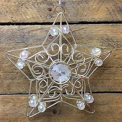 Beautiful Wire and Beaded Star Ornament
