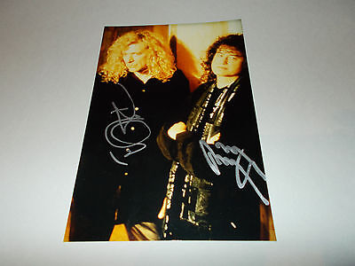 Robert Plant  Jimmy Page Led Zeppelin signed Autogramm 13x18 Foto in person
