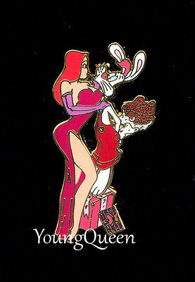 Disney Shopping Jessica & Roger Rabbit Valentines Day Roses Le 250 Pin