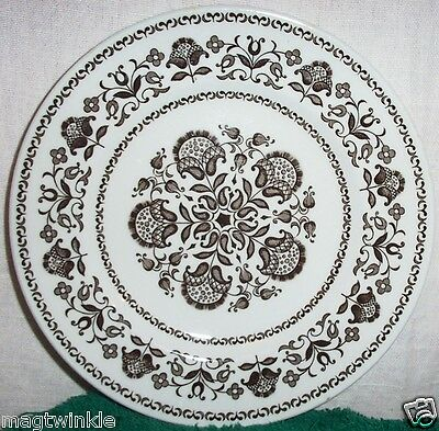 "Vintage Wood & Sons 2 Transferware 7"" Side Plates WELLESLEY Burslem UK #1029-A&B"