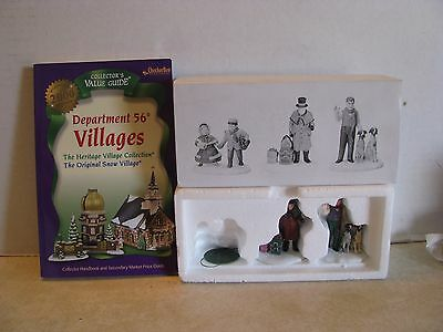 """Dept 56 Heritage Village Coll. """"VISION OF A CHRISTMAS PAST"""" 5817-3 2Accesories"""