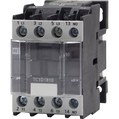Europa Components TC1-D1810P7 Contactor 18A 9KW NO Auxilliary 230V