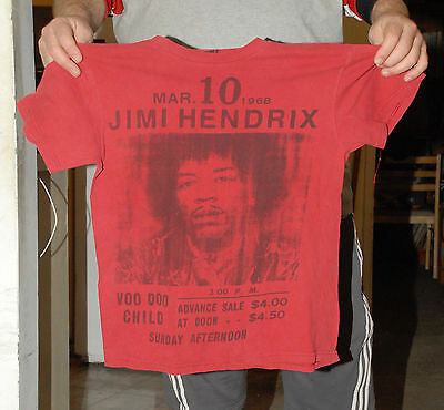 Jimi Hendrix Stone Free Concert Flier T Shirt Med March 10 1968